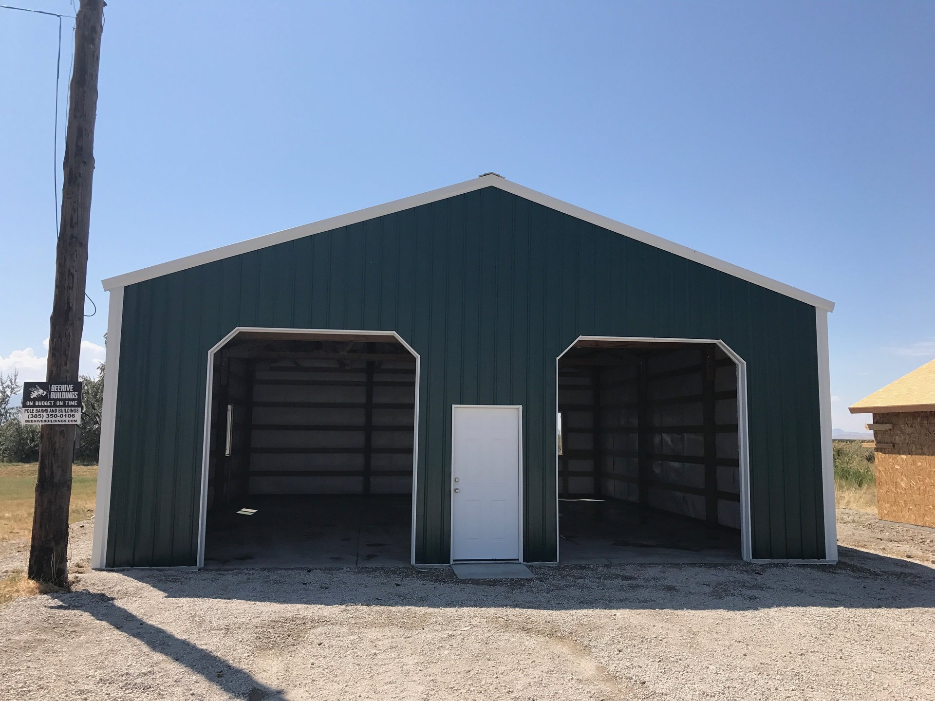 30x50 pole barn uintah ut for Garage door repair roy utah