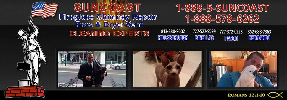 Chimney Services - Pinellas, FL - Suncoast Community Maintenance, Inc. - 10$ OFF ANY SERVICE (with mention of this site) - We also do 25 Point Inspections!
