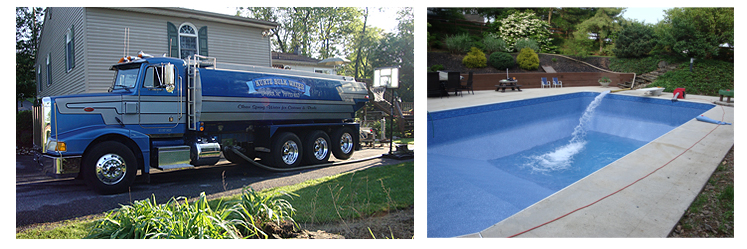 Pool water delivery lancaster reading pa in ground pools kurtz bulk water llc for Bulk water delivery for swimming pools