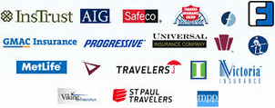 Intrust, AIG, Safeco, FARMERS, Fidelity Life, Foremost Insurance, GMAC, Progressive, Universal, Penn National Insurance, SENTRY, MetLife, Travelers, Discovery, Insurance House, Victoria, Viking, st Paul Travelers, MPP