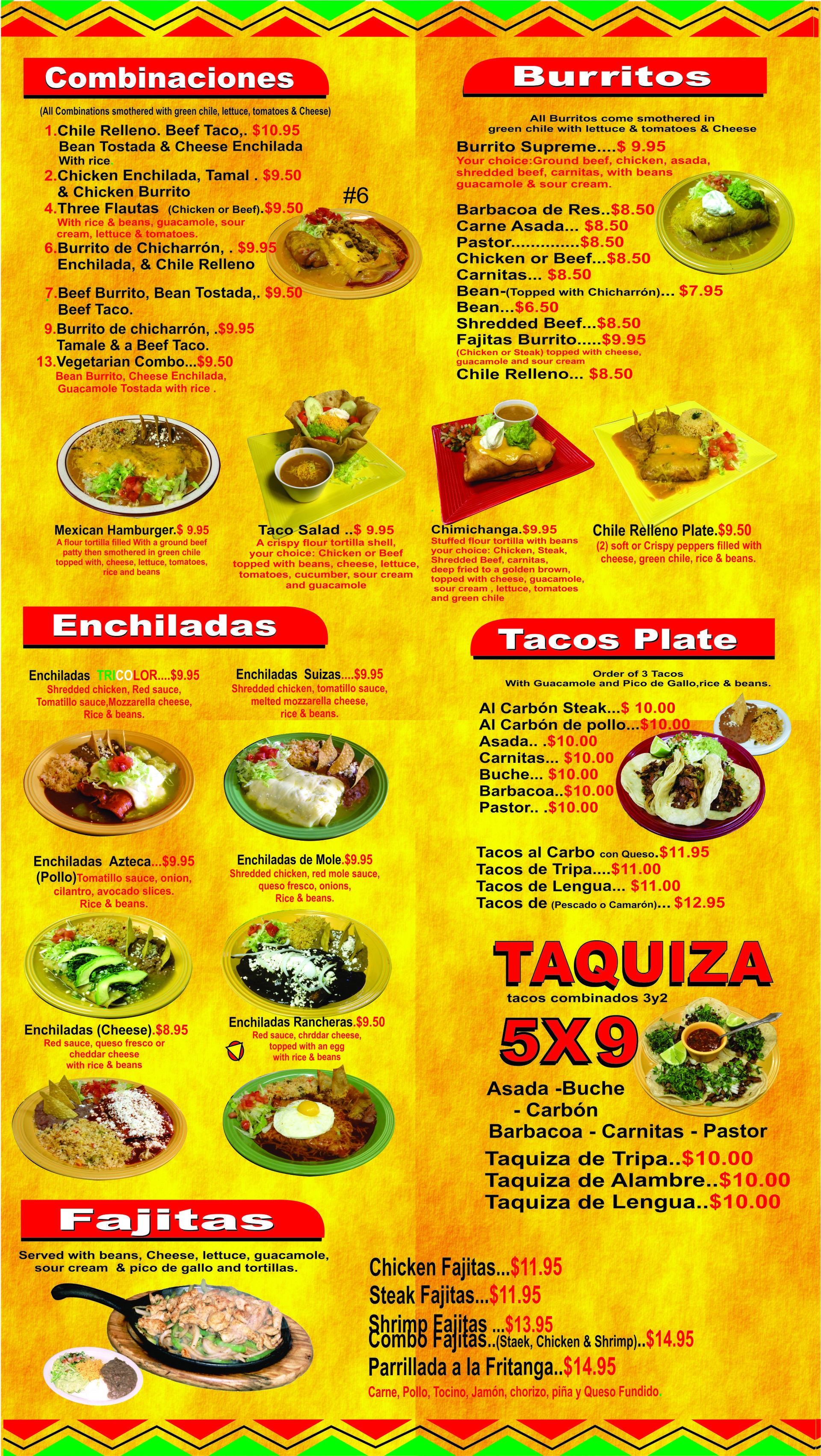 fritangas mexican restaurant menu | pueblo, co