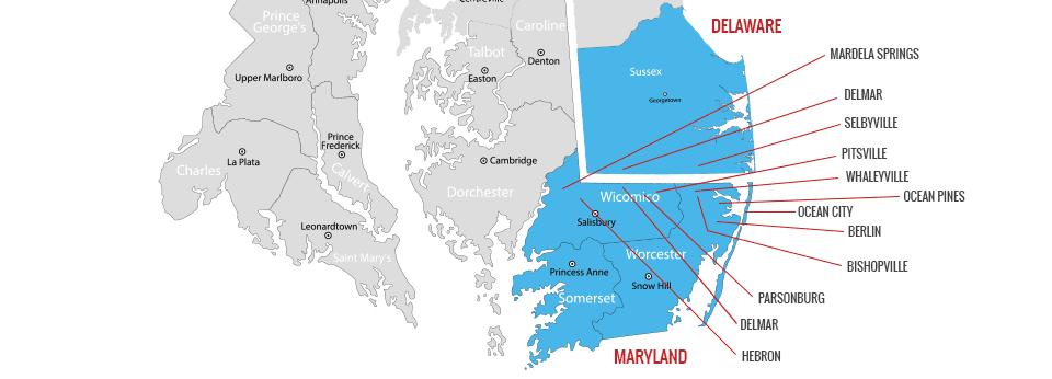 Mrohs Gas Inc Service area map