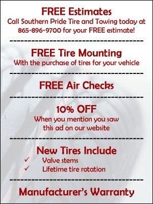 Towing Services - Sevierville, TN - Southern Pride Tire and Towing