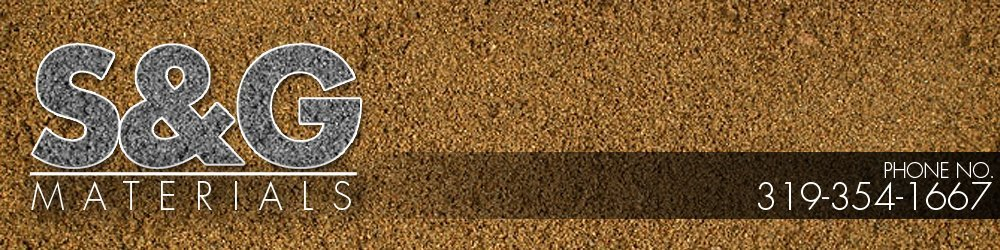 Construction Materials Iowa City, IA - S & G Materials