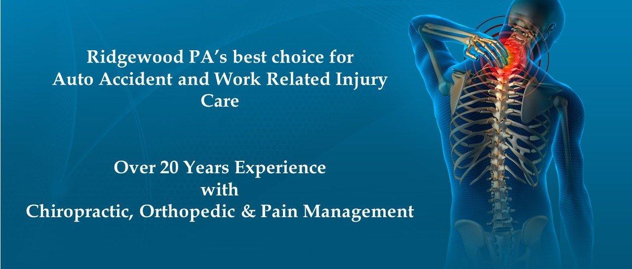 Auto & Work Related Injury Care in Ridgewood, PA.