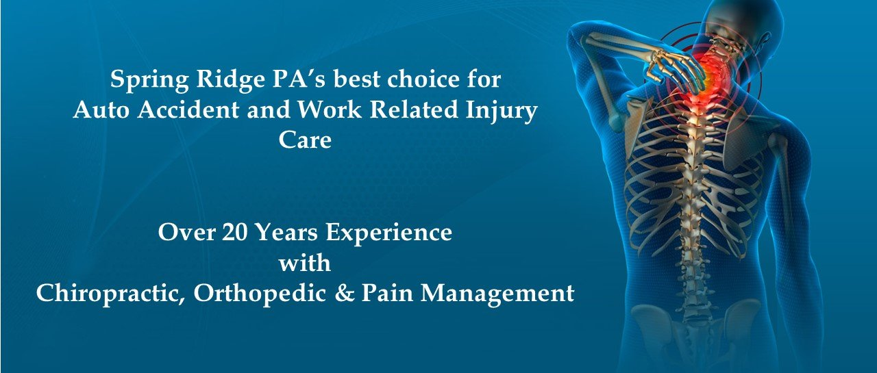 Auto & Work Related Injury Care in Spring Ridge, PA.
