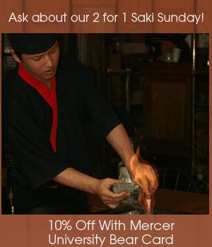 Sushi Menu - Macon, GA - Shogun Japanese Restaurant - Hibachi - Ask about our 2 for 1 Saki Sunday! 10% Off For Senior Citizens