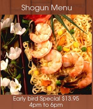Sushi Bar - Macon, GA - Shogun Japanese Restaurant - Shrimp - Receive 10% Off With Mercer University Bear Card