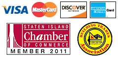 Powerflo Sewer Service Inc Accepts Visa, Mastercard, Discover Network And American Express; Proud members of The Staten Island Chamber of Commerce & The Building Trades Association
