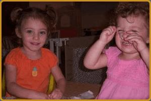 Two cute little girl