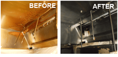 Restaurant exhaust cleaning before and after