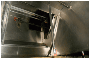 Kitchen exhaust after exhaust system cleaning