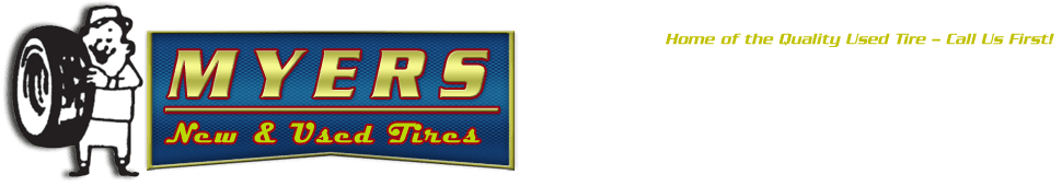 Tires - Myers New & Used Tires  - Spencer, NC