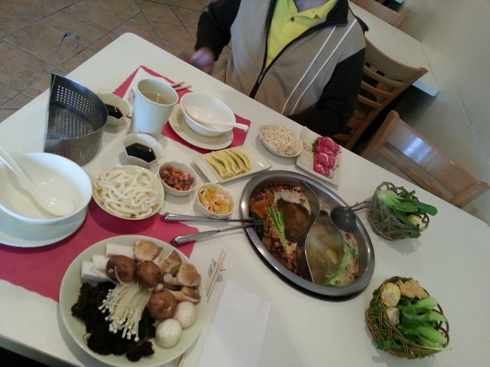 Sliced sirloin, mushroom platter, egg dumplings