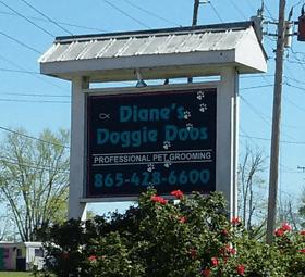 Diane's Doggie Doos sign