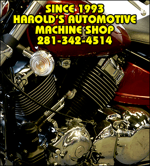 Motorcycle Services - Richmond, TX - Harold's Automotive Machine Shop - Since 1993 - Harold's Automotive Machine Shop - 281-342-4514
