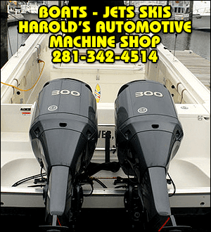 Marine Engine Services - Richmond, TX - Harold's Automotive Machine Shop - Boats - Jet Skis - Harold's Automotive Machine Shop - 281-342-4514