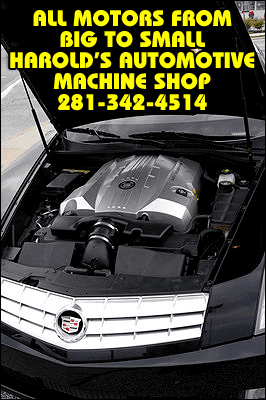 Auto Engine Services - Richmond, TX - Harold's Automotive Machine Shop - All Motors From Big To Small - Harold's Automotive Machine Shop - 281-342-4514