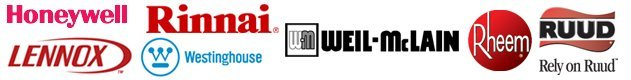 Honeywell, Lennox, Rheem, Rinnai, Ruud, Weil-McLain, Westinghouse