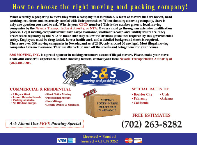How to choose the right moving and packing company!