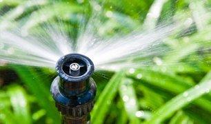 garden sprinkler close up