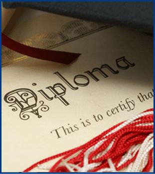 An elegant diploma