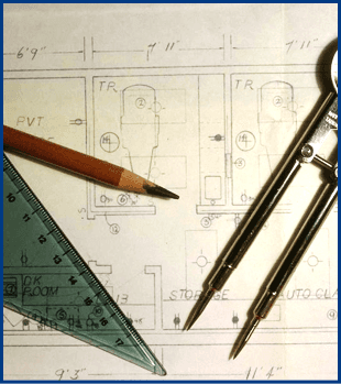 Architectural drafting layout