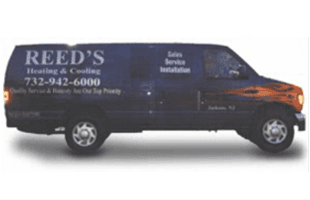 Reed's Heating & Cooling service van