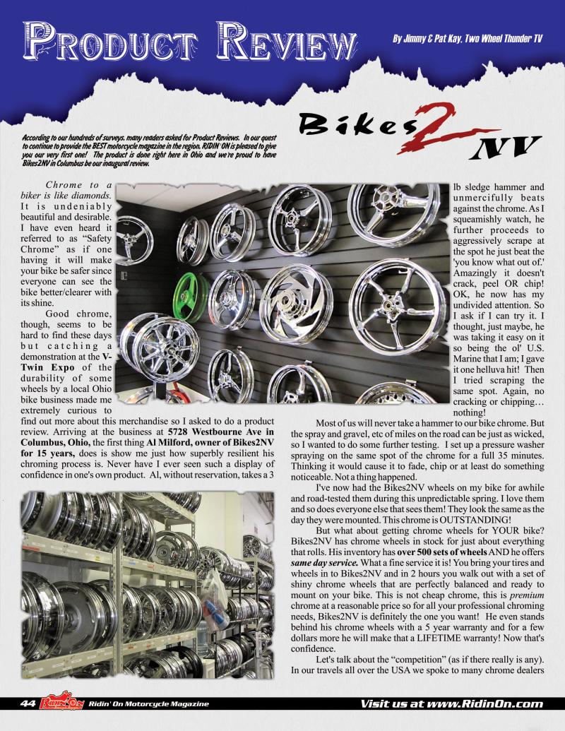 Bikes 2 NV Testimonials | Columbus, OH Wheel