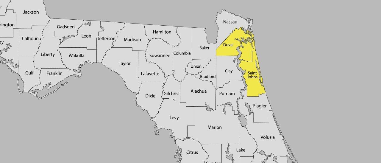 Sunset Fence Inc Service Area Map