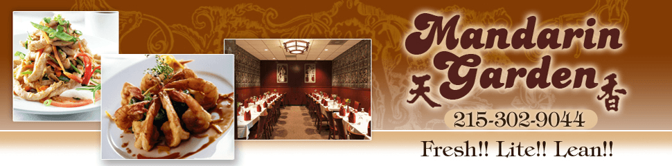 chinese menu - Willow Grove, PA - Mandarin Garden - Call 215-657-3993 for Details about our Menus.