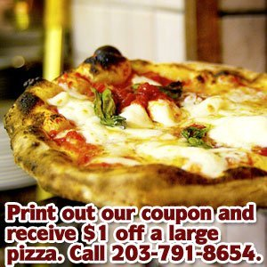 Pizza House - Danbury, CT - Tuscanero's Pizza - Print out our coupon and receive $1 off a large pizza. Call 203-791-8654.