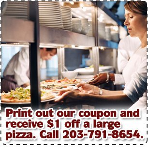 Best Pizza  - Danbury, CT - Tuscanero's Pizza - Print out our coupon and receive $1 off a large pizza. Call 203-791-8654.