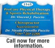 Physical Therapy - Staten Island, NY - Puccio Vincent J DPT - Callout - Call now for more information.