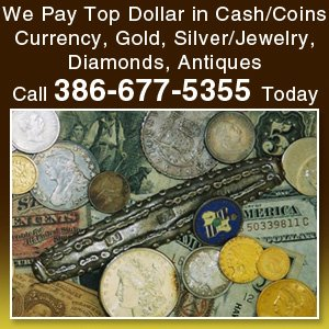 Paul's Coins LLC of Daytona Beach FL buys and sells rare coins, currency, gold bullion, scrap gold, silver bullion, knives, swords, Civil War collectibles and much more.