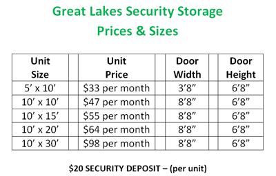 Alpena, MI - Great Lakes Security Storage