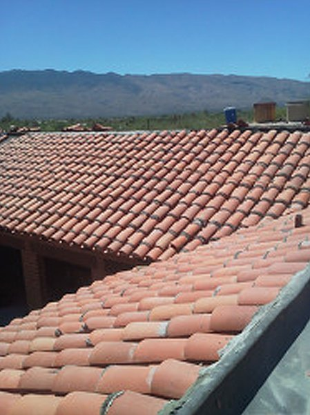 Brick tiles roof