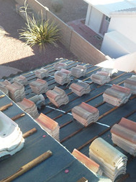 Ready to install brick tiles for roof