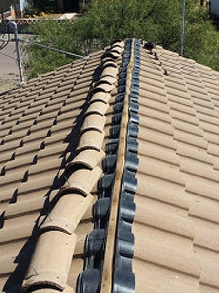 Brown color tile roof