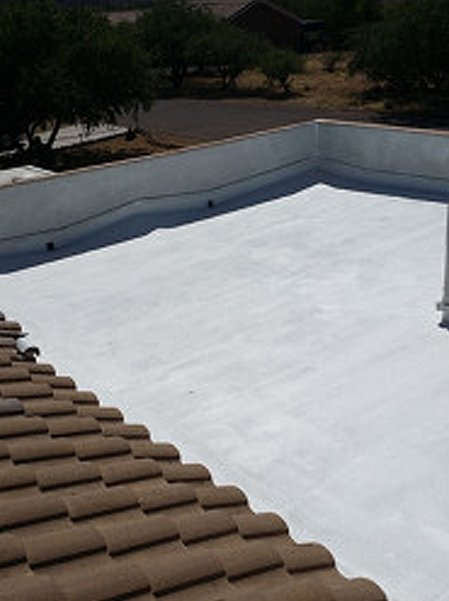 Flat roof and tile roof