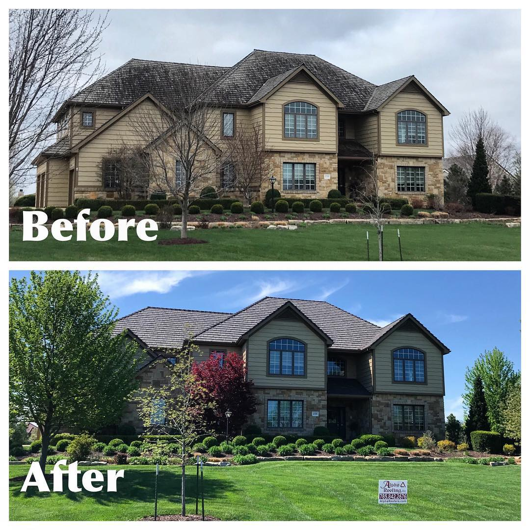 Before Amp After Roofing Photo Gallery Alpha Roofing Llc