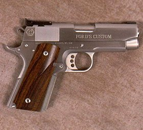 Caspian 1911 in Brush Chrome with Matte Rounds