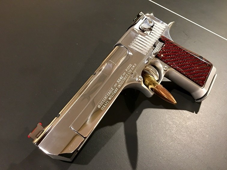 Desert Eagle Polish Chrome with Horace Booth Sights