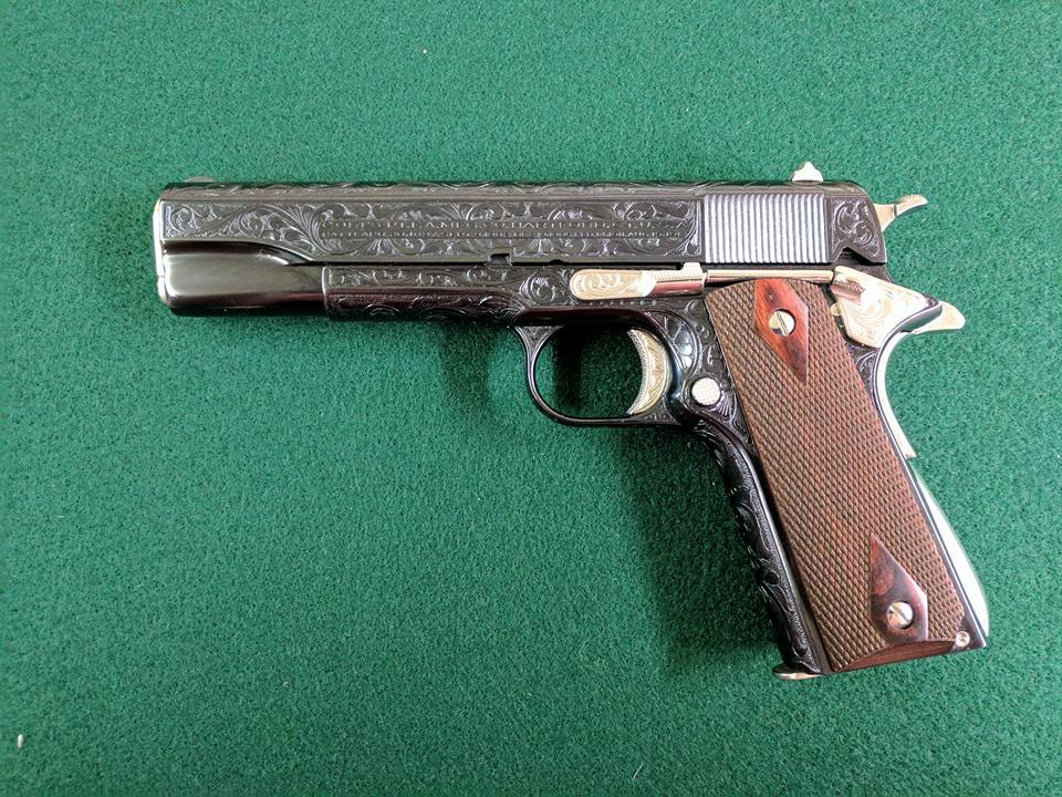 COlt 1911 Blue and Nickel 2