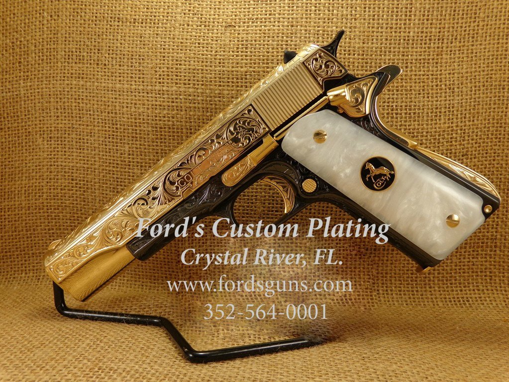 Colt 1911 Gold&Blue 2edited
