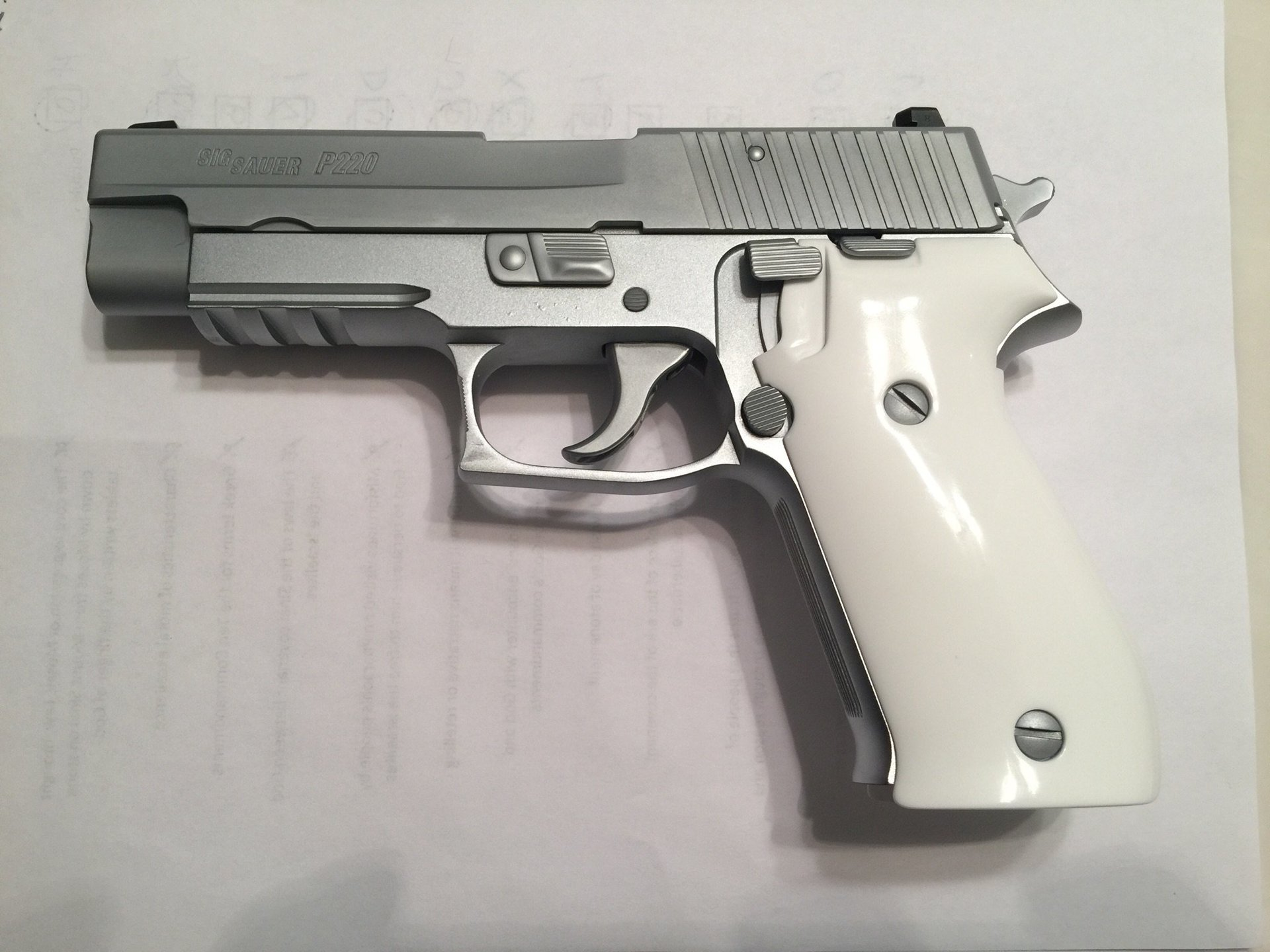 Sig Matte Chrome with aluminum frame