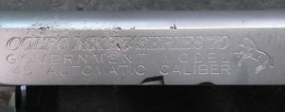 Colt lettering before