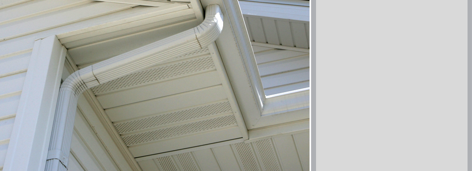 A View Of Gutters Installed To A House