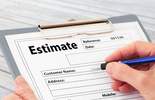Mentioning An Estimate In A Form