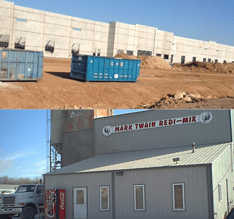 Two blue container near in the construction site